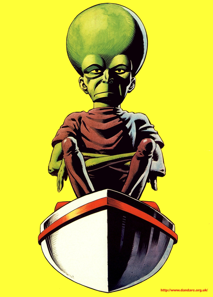 An A4-sized poster of The Mekon
