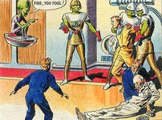 The Mekon seems to have the upper hand...