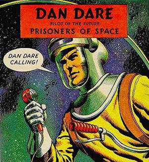 Dan Dare, complete with spacesuit